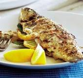 Forel, gevulde op de barbeque recept