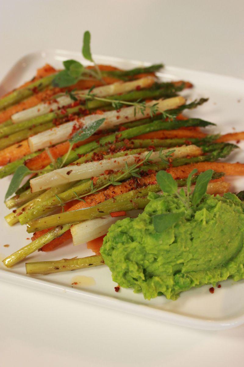 Recept 'puree van zoete aardappel met gegrilde groenten'