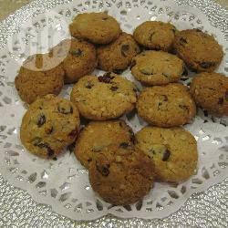 Havermoutkoekjes met chocolade en cranberries recept