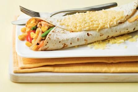 Tortilla met kip en mais
