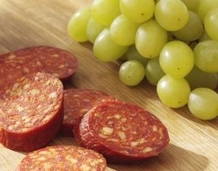 Maaltijdsalade met druiven en chorizo recept
