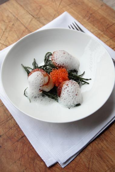 Recept 'sint-jakobsvruchten met zeekraal'