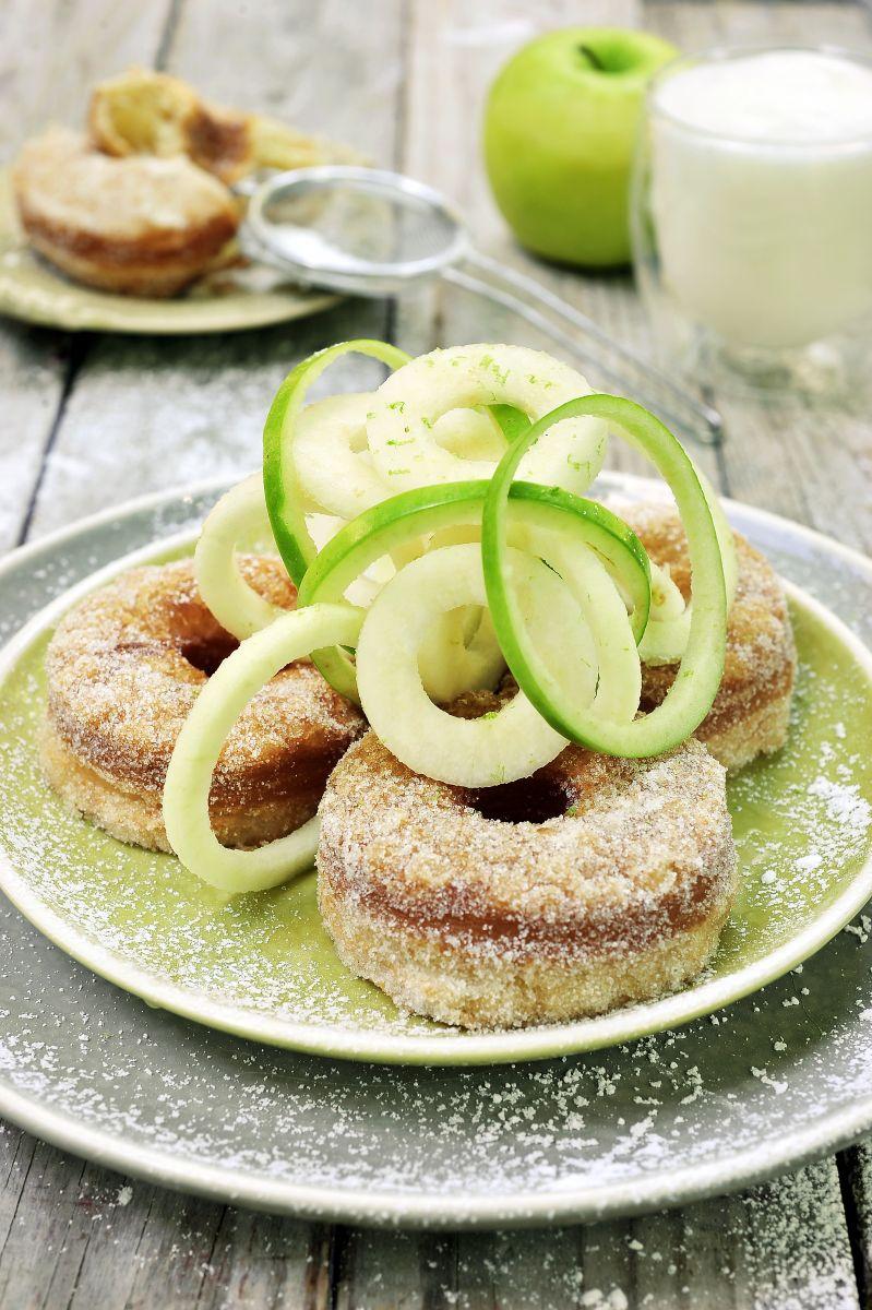 Recept 'appelflapjes met espuma van yoghurt'