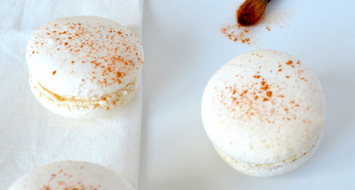 Macarons with a touch of gold