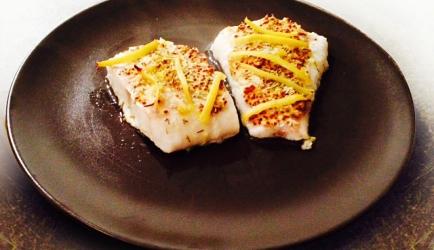 Kabeljauw met mosterd en citroen uit de oven recept
