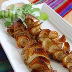 Ovengebakken chips op een stokje recept
