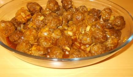Chinese gehaktballetjes in een pittige zoete saus recept