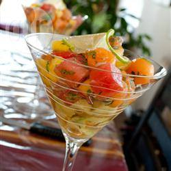 Salade met meloen, mango en avocado recept