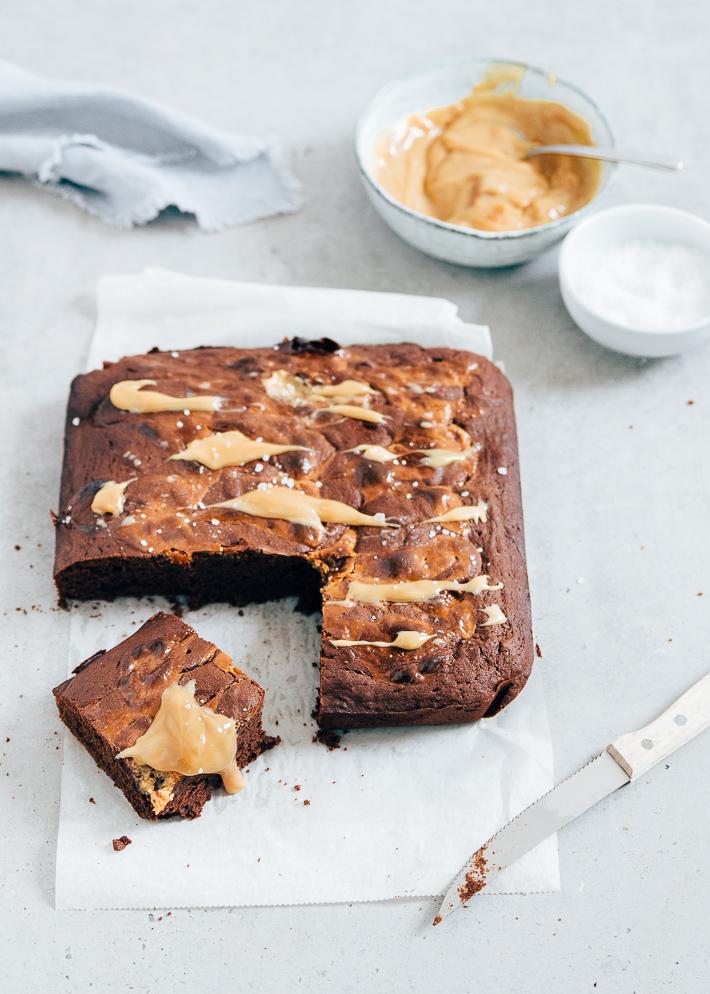 Recept salted caramel brownies
