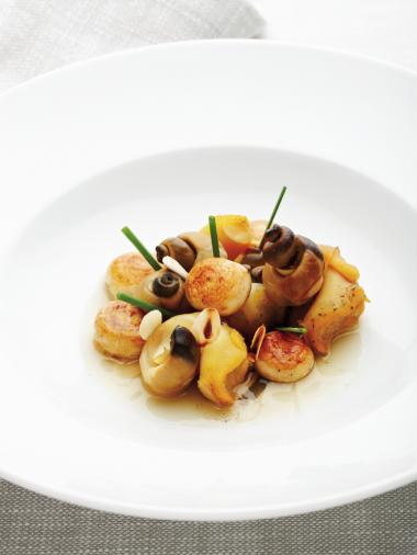 Recept 'ragout van wulken en paddenstoelen'