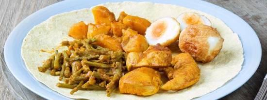 Surinaamse roti met kip recept