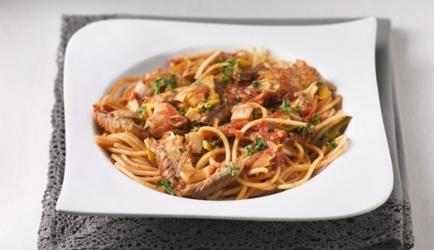 Spaghetti met makreel recept