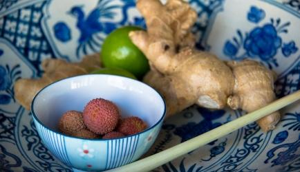 Verse lychee citroengras sorbet recept