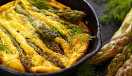 Frittata met ham en groene asperges recept