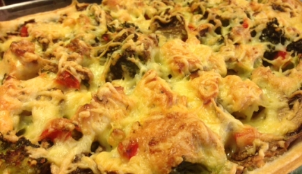 Hartige taart met broccoli, kip en paprika recept ...