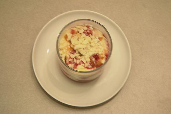 Trifle van rood fruit, mascarpone en witte chocolade
