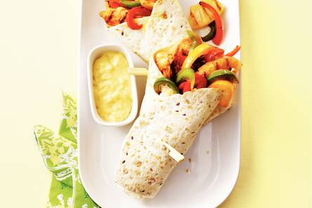 Tortilla kip-ananas