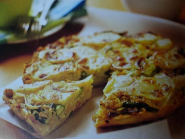Fritatta met tonijn en asperges recept