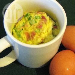 5 minuten omelet in een mok recept