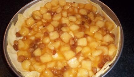 Snelle appel-roomtaart met bladerdeeg recept