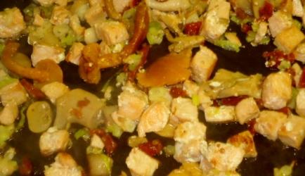 Zalm met cheddar en champignons omelet recept