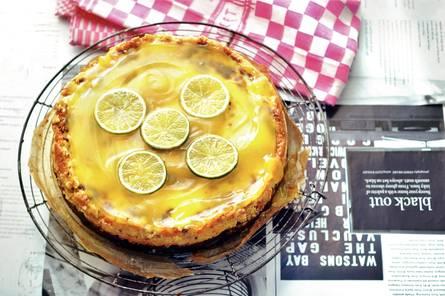 Frisse citruscheesecake