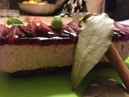 Stoofperen taartje recept