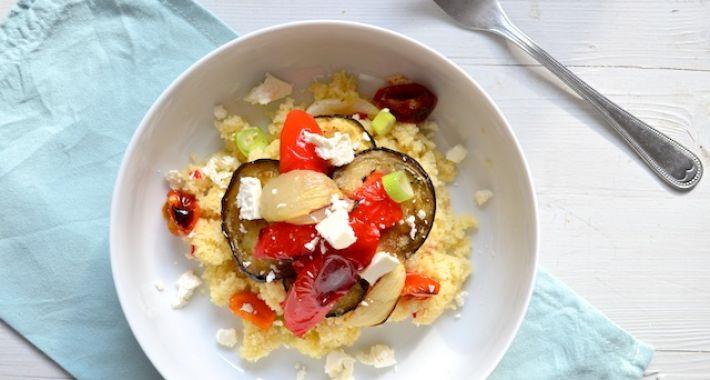 Couscous met geroosterde groente