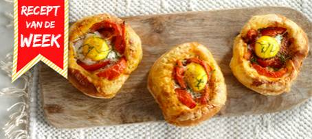 Gevulde italiaanse bol met kaas tomaat en ei recept