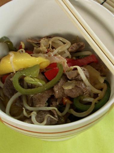 Recept 'wok van eend'