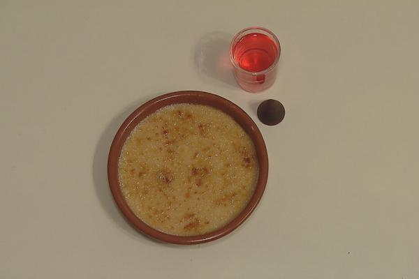 Crème brûlée met cuberdons