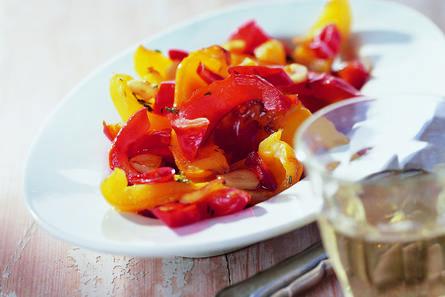 Pittige gebakken paprika's