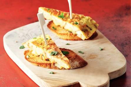 Stokjesbrood spaanse omelet