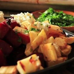 Warme salade van geroosterde groenten recept