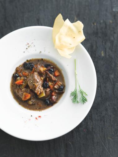 Recept 'stoofpotje van hinde met bosbessen'