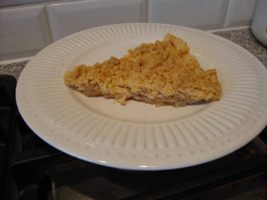 Apple crumble pie recept