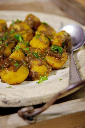 Recept 'masala kerrie aardappelen'