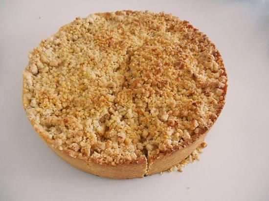 Herfst: appel-kaneel-walnoot-honing-kruimeltaart recept