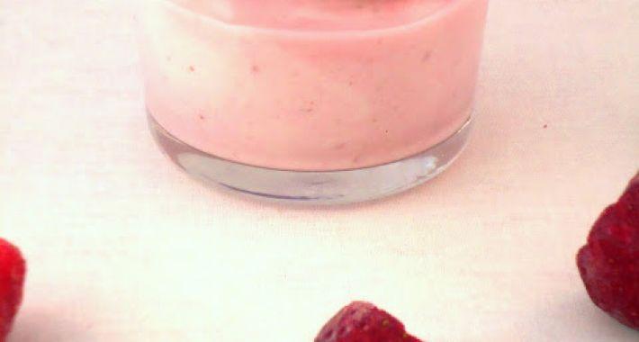 Aardbeien yoghurt bavarois