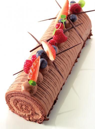 Recept 'rolbiscuit met chocolademousse'