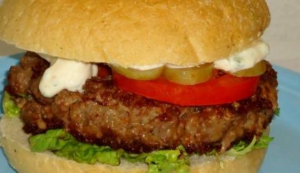 Hamburgers met ham vulling recept