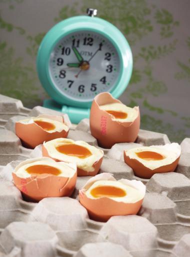 Recept 'eitje van witte chocolademousse en mango'