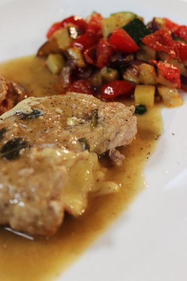 Recept 'kalfslapje met mozzarella en parmaham'