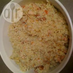Romige en pittige rijstschotel met kip recept