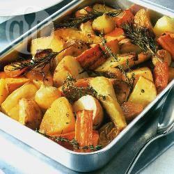 Kruidige geroosterde wortelgroenten recept