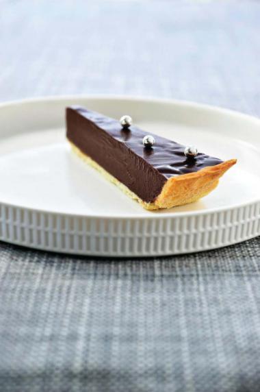 Recept 'chocoladeganache-taart met zanddeeg'