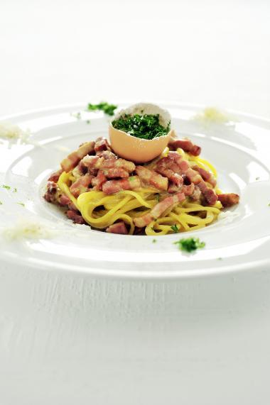 Recept 'spaghetti alla carbonara'