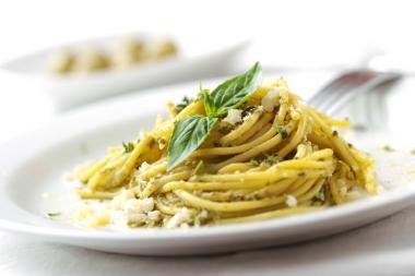 Recept 'pasta pesto'