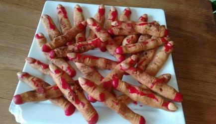 Halloween dode vinger koekjes recept