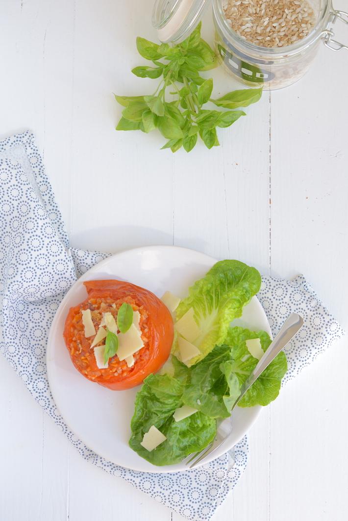 Fresh & easy: gevulde tomaten met risotto